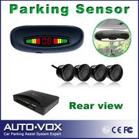 Car Reverse Backup Radar Rear roof mounting LED Display rear view parking sensor system with 4 sensors freeshiping