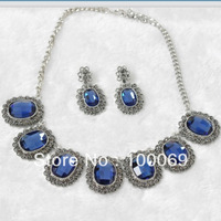 Min.order is $15 (mix order) Vintage Exaggerated Necklace and Earring Jewelry Set