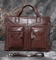 2013 Hot! Quality commercial handbag messenger bag briefcase genuine leather bag male 7177
