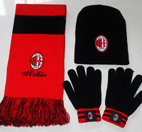 Free Shipping Best Selling  new  arrival Football fans commemorative scarf hat scarf gloves piece set