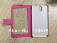 Galaxy Note 3  Note III Case Cover  Original Clear Hard case for Samsung Note3  Leather Back Cover  Housing Case Holster