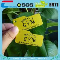Plastic gym key tags custom printing,1000pcs/lot