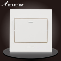 Bi Hu. Wall switch. 10A. 110V-250V ~. 50Hz/60Hz. 1 key. German imports pc panel. Retardant.