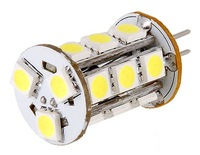 50pcs G4 12V 3.6W 18leds SMD 5050 LED White/Warm White  Light Spotlight Free Shipping