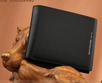 2013 men's short leather wallet, authentic Korean man bag authentic wallet cross section