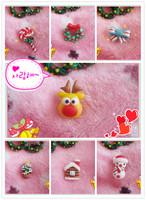 Handmade polymer clay cartoon elk stud earring personalized Christmas stud earring fashion christmas tree