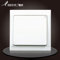 Bi Hu. Wall switch. 10A. 110V-250V. 50Hz/60Hz. 1 key. Dual control. German imports pc panel. Retardant.