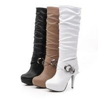 2013 spring and autumn martin boots ultra high heels platform boots sexy rhinestone repair high-leg boots