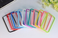 10pcs/lot Transparent TPU+PC Cases Cover for samsung S4 i9500 Galaxy Color Protective Shell FREE Shipping