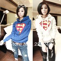 Free shipping Womens Superman Long Sleeve Hoodie Hoody Sweatshirt Casual Coat Tops Outerwear CY0807 DropShipping