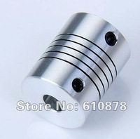 Free Ship,Aluminium CNC Stepper Motor Flexible Shaft Coupler,4x6mm 5x6mm 6x6mm 6x8mm 6x10mm 5pcs/lot