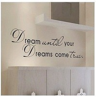 Sticker Dream Come True Wall Art Quote Home Vinyl Decal Room Decor Removable New