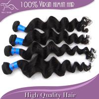 100% unprocessed virgin indian hair Grade 5A loose wave hair mix length 4pcs lot the best hair extensions natural human hair