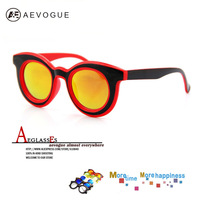 2014 Newest aevogue Brand Metal Fashion sunglasses women Multicolored len Clear lens sun glasses AE0059