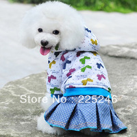 Free shipping Pet Puppy Dog Winter Warm Clothes Costume Coat Dress Cat Bow Jacket Hoodie