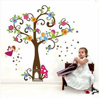DIY Removable Vinyl Fairy Tree Flowers Wall Sticker Decals for Kid Nursery Room