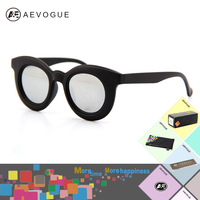 Retail 2014 Newest aevogue Brand Fashion sunglasses women Multicolored len Clear lens sun glasses 5colors AE0059