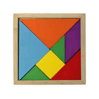 Hot Color Wooden Tangram Brain Teaser Puzzle Educational Developmental Baby Toy Freeshipping&wholesale