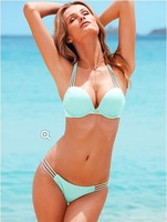 2014 Summer VS Victoria Push Up Bikinis Set Swimwear For Women Sexy Swimsuits Beachwear The Bathing Suits High Quality HTNYY-100