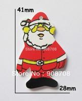 W057  Santa Claus Wood Button 41mm*28mm 1000pcs DIY Christmas accessories