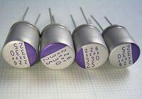25VDC,330uF,14mohm,10x13mm,25SEPF330M SANYO Capacitor, Aluminum Organic Polymer Bulk