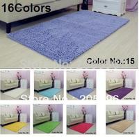 16 colors size 60X100CM Power Threads Microfiber Chenille Floor mat bathroom mat bathtub front mat soft touching rug solid color