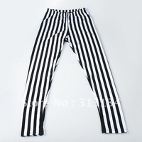 2pcs New arrival  Chic Black and White Vertical Stripe Zebra Leggings Skinny Legwear Pants for women  Hot New