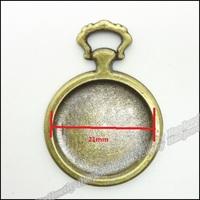 30pcs Vintage Charms Frame Pendant Antique bronze Zinc Alloy Fit Bracelet Necklace DIY Metal Jewelry Findings