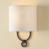 Free shipping new arrival 2014 American brief fashion bedside lamps mirror light fabric  wall lamp
