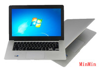 New laptop 14 inch OEM Laptop Dual core Intel D2500 CPU 1.86GHz 4GB 500GB ultrathin notebook computer Windows 7 Freeshipping