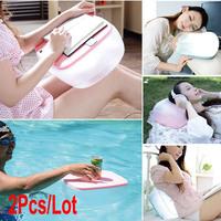 2Pcs/Lot Multifunction Inflatable Pillow Cushion / Folding Air Desk Table 3Colors 18899