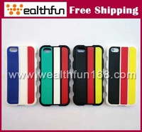Protective silicon cover with fashion hit color design for iphone 4/5 cover 30pcs/lot free DHL shipping cost