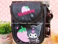 My Melody&Kuromi DC Digital Camera Bag Case w/ Lanyard Black Free Shiping