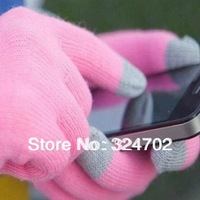 Free shipping Knit Wool Touch Gloves for iPhone 5 5G 4 4S Touch Screen Gloves for iPad 1 2 3 4 Mini, 500pcs(250pairs)/lot