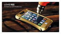 Original Fit Fingerprint LOVE MEI Small Waist Powerful life Waterproof Metal Case For iphone 5 5S MOQ:20pcs Free DHL Shipping