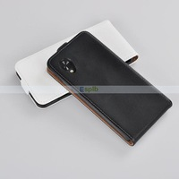 200pcs/Lot Wholesale Genuine Real Vertical Flip Leather Case for LG Google Nexus 5,White/Black for Choice