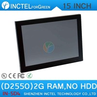 Windows XP or 7 13.3 inch All in One LED touchscreen Panel PC 2mm ultra-thin panel Atom D2550 Dual Core 1.86Ghz 1G RAM 20G HDD