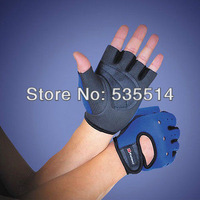 Gym Fitness Workout Weight Lifting Cycling Driving Hunting Half Mitt Gloves Blue