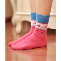 Winter thickening thermal comfortable little deer stripe socks female loop pile wool cashmere socks female