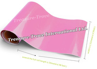 High Quality 1.52*30m Pink Glossy Vinyl Car Vinyl Decals Wrapping Film with Air Drain