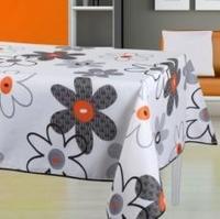 Black orange flowers  148X240CM Rectangle Table cloth,Christmas cloth table ,table mat,waterproof  Polyester Terylene cloth