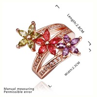New Arrival 18K Gold Plated Ring,Fashion Jewelry Ring,18K Rhinestone Austrian Crystal Ring Men Women Wedding Rings SMTPR455