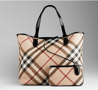 High quality brand women's handbag designer ladies vintage plaid totes luxury bag free shipping