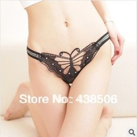 3pcs/lot Pierced Butterfly lace sexy Women's Underwear  Sexy Panties and g- string 2004