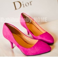 2013 fashion ol candy color pointed toe all-match thin heels high-heeled shoes / women's work shoes/free shipping