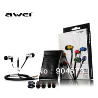 AWEI ES900i 3.5mm In Ear Earphone for Iphone IPOD Samsung HTC with Mic,Noodle cable Headset Headphone