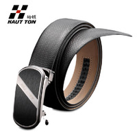 2013 Hautton business men belt automatic buckle genuine leather cowhide man waist strap