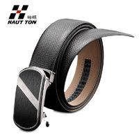 2013 Hautton business men belt automatic buckle genuine leather cowhide man waist strap