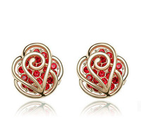 Free Shipping Sweet Gift 18K Gold Plated Jewelry High Quality Gold Earring