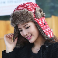 2014 new South Korean women's Bomber Hats sequins fashion ear protection cap flight cap for girls,free shipping